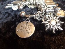 """Never never give up"" - Motivation Charm for Weight Watchers Keychain."