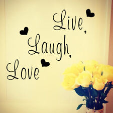 Live Laugh Love Quote Wall Stickers Home Decor Art Decal Sticker Decals Quote