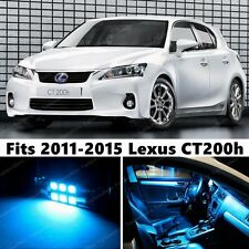 10 x Premium ICE BLUE LED Lights Interior Package Kit for Lexus CT200h 2011-2015