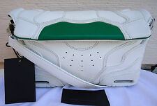 NEW $1295 Alexander Wang Small Sneaker Leather Crossbody Optic White Green