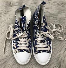 PRADA Sport Hawaiian sneakers High Top Woman's EU SZ 36 US SZ 6 Blue White Shoes