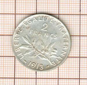2 francs semeuse argent année rare 1913