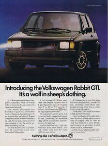 1983 Advertisement - VOLKSWAGEN RABBIT GTI