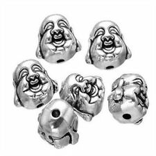 10 x  Tibetan Silver 2-Sided buddha head Spacer Beads fr28