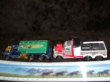 Lot of 2 Mattel Hot Wheels Racing Tanker Truck Hasse Racing Diecast 1999  &