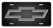 Chevy Chevrolet Bowtie Bow Tie Aluminum License Plate Tag Unique Design Carbon