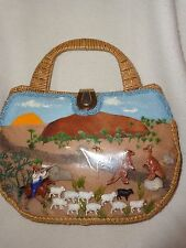 Vintage Ayers Rock Australia Picture Window Purse....One of a Kind...