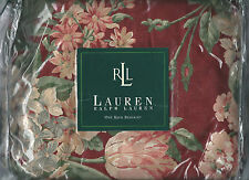 Ralph Lauren Desert Plains Red Burgundy Floral Southwestern King Bed Skirt New