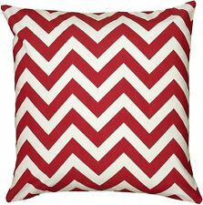 """Rizzy Home Decorative Pillow, 18""""X18"""", Red/White/"""