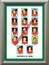 ARSENAL - 1975-76 - REPRO STICKERS A3 POSTER PRINT