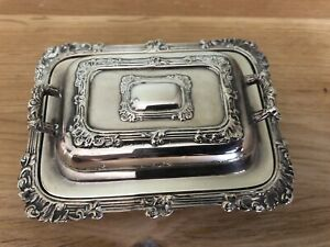 Antique Novelty Silver Plated Butter Dish
