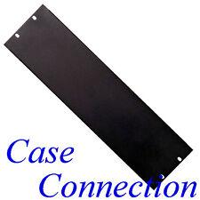3HE U - Rackblende - gekantet - Stahl - schwarz # Frontplatte Blindabdeckung