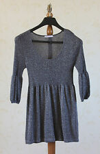 MARKS & SPENCER Petite / Sparkle / Graphite Dress Top Size 10 vgc