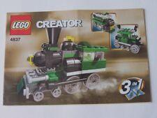 LEGO ® de recette/INSTRUCTION Nº 4837