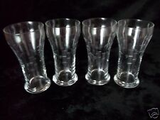 4 NORITAKE CRYSTAL ETCHED SASAKI BAMBOO OLD STYLE BEER PILSNER GLASSES 10 OZ