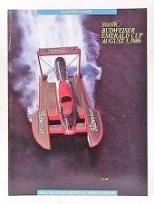 mint 1986 SEATTLE SEAFAIR unlimited hydroplane boat race program unused