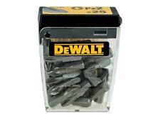 DeWalt PZ2 x 25mm Pozi Screwdriver Bits - PACK OF 25  DT71521