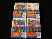 1990 Fleer Baseball Cello Pack - Lot of 4 - Factory Sealed