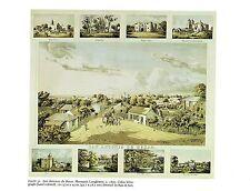 """1976 Vintage CITY """"SAN ANTONIO de BEXAR TEXAS (1860)"""" Color Art Print Lithograph"""