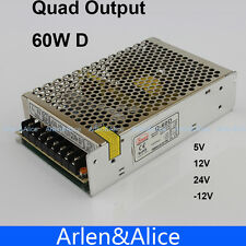 60W D Quad output 5V 12V 24V -12V Switching power supply AC to DC SMPS