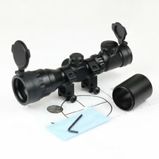 Reflex 2-6x32 Tactical Red Green Mil-dot Sight Rifle Scope Picatinny Rail Mount