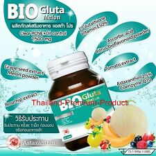 Bio Gluta Melon Clear Acne Oil Control Glutathione Grape Seed Q10 1,500 mg 30 C