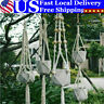 Pots Holder Macrame Plant Hanger Hanging Planter Basket Jute Braided Rope Craft