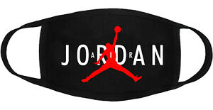 Air Jordan - Face Mask Adult Youth Fashion 2 Layers Cotton Custom Made in US