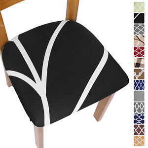 Stretch Chair Seat Covers Elastic Dining Chair Seat Cushion Slipcovers Removable
