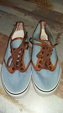 VANS Off The Wall Women's Light Blue(jeans effect)/ Brown Trainers-SizeUK4/EUR37