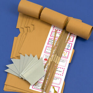 Tan Brown Make & Fill Your Own DIY Recyclable Christmas Cracker Kits & Boards