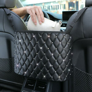 Universal Hanging Car Seat Storage Bag Between Auto Car Seats Organizer Holder