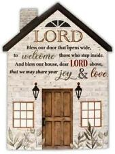 More details for porcelain plaque lord bless this house religious ornament catholic gift