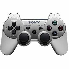 Official Sony PS3 PlayStation 3 Wireless Dualshock 3 Controller Satin Silver VG