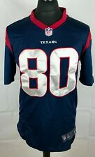 Andre Johnson #80 Houston Texans NIKE On Field NFL Jersey Men's Size S Sewn Top