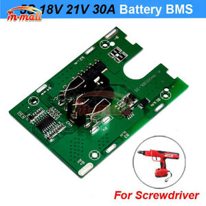 5S 18V/21V 30A Li-ion Lithium 18650 Battery BMS Charger Protection Board