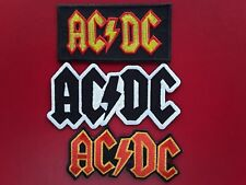 AC/DC AUSTRALIAN HEAVY METAL ROCK MUSIC BAND EMBROIDERED PATCHES x 3 UK SELLER