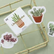 45 Pcs/Pack Plantes Vertes Autocollants DIY Album Décoration de Journal