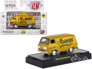 "1965 FORD ECONOLINE VAN ""MOONEYES"" LIQUID GOLD LTD 1/64 DIECAST M2 32500-S69-S2F"