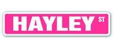 HAYLEY Street Sign Childrens Name Room Decal| Indoor/Outdoor