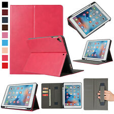 "Premium Leather Case For iPad 6th Generation 9.7"" 2018 With Apple Pencil Holder"