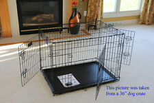 """EliteField 36"""" 3-Door Folding Dog Crate Cage Kennel with RUBBER FEET"""