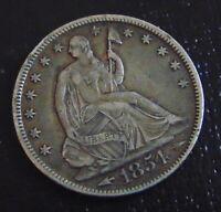 1854-O SEATED LIBERTY HALF $$REDUCED$$----XTRA FINE---- KEY DATE / STK #7701