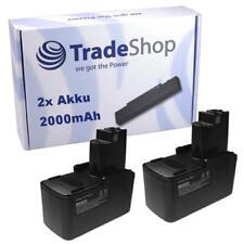 2x Batterie 9,6v 2000mah pour Bosch gdr-90 pdr-80 AEC 9.6 ves2 GSR 9.6 ve2