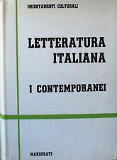 Letteratura italiana - I - i contemporanei - Marzorati - orientamenti culturali