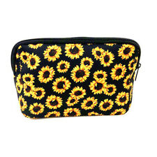 Women Sunflower Makeup Bags  Large Capacity Storage Bag Travel  Pouch Handbag