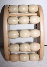 Spa Pleasures Wooden Ball Foot Massager Massage Roller Balls Pressure Points NEW