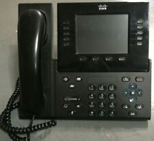 CISCO CP-8961 Unified Touch Screen Color VOIP BLACK Phone Base w/ Stand