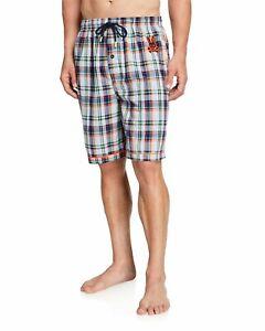 New Men's PSYCHO BUNNY Logo Print Woven Shorts Size L
