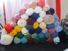 Vintage Lot of Mixed Yarn 50 Skeins Red Heart Caron Wintuk